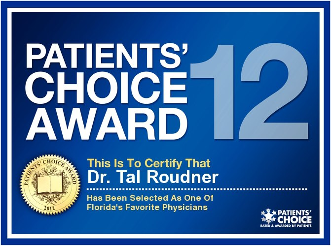 2012 Patients' Choice Award - Tal T Roudner MD FACS