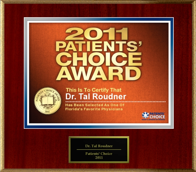 2011 Patients' Choice Award - Tal T Roudner MD FACS