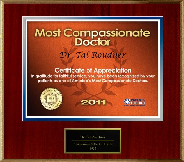 2011 Most Compassionate Doctor Award - Dr. Tal Roudner