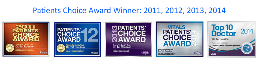 Patients Choice Award Winner: 2011, 2012, 2013, 2014 - Dr. Tal Roudner