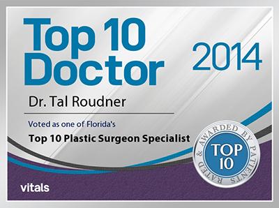 2014 Vitals Top 10™ Doctor Award - Tal T Roudner MD FACS